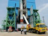Strap-on Motors are being Integrated with PSLV-C41 Core Stage at Vehicle Assembly Building