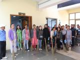 Cleaning drive at NESAC Shillong