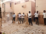 CLEANING DRIVE BY CISF JAWANS AT HOUSING COLONY