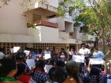 MASS PLEDGE AT DOS HOUSING COLONY ALONG WITH STUDENTS & RESIDENTS