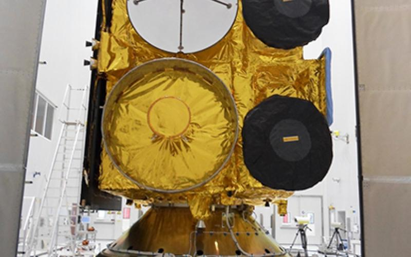 INSAT-3D in clean room at the launch centre