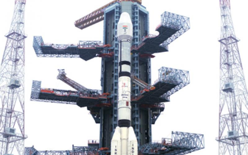 GSLV-F06 on the Launch Pad