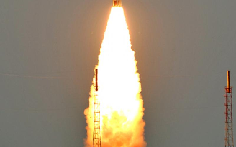 PSLV-C17 Lift-off view 3