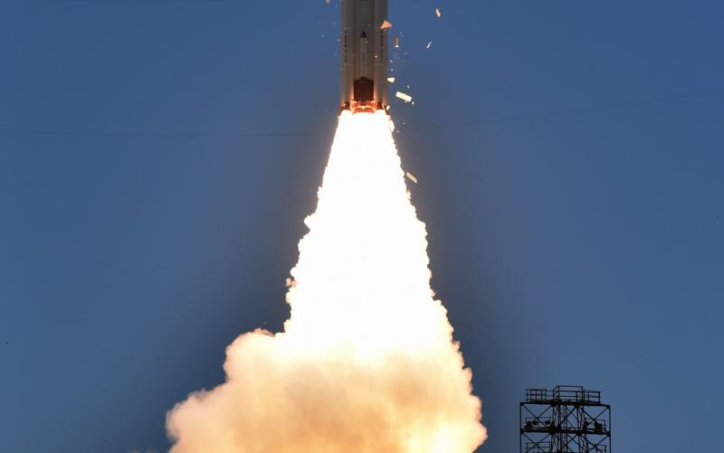 PSLV-C33 Lift off