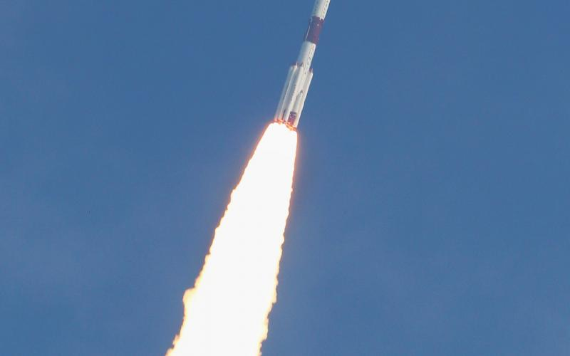 PSLV-C40 Lift Photos