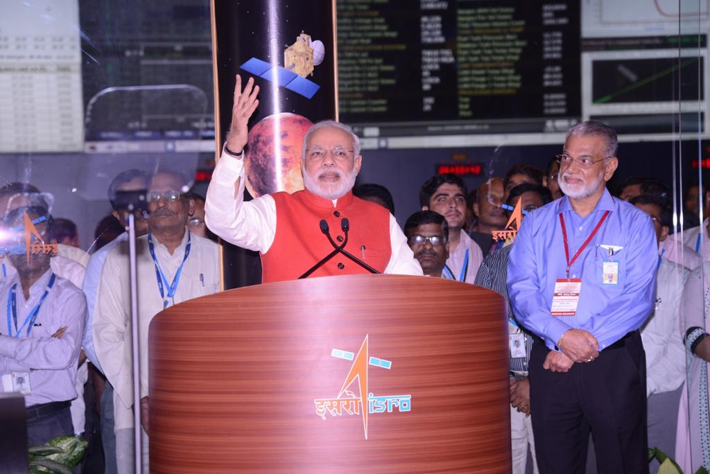 Narendra Modi At ISRO