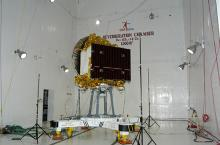 Spacecraft undergoing Acoustic test at ISITE ISAC Bangalore