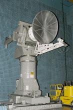 Spacecraft Antenna undergoing test at Comprehensive Antenna Test Facility