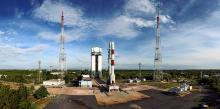 Panoromic View of PSLV-C35 at First Launch Pad- View3