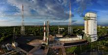 Panoromic View of PSLV-C35 at First Launch Pad - View1