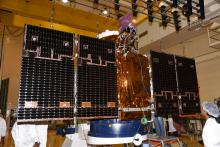 Cartosat-2 Series Satellite undergoing Solar Panel Deployment Test