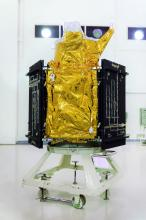 Cartosat-2 Series Satellite in the Clean Room at Launch Centre