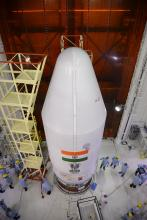 PSLV-C38 heat shield closed with all 31 satellites