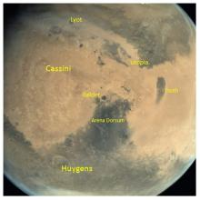 Arena Dorsum region of Mars