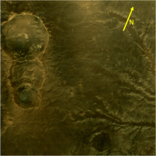 Three linked Craters of Mars