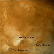 Snapshot of  Mars terrain captured from a distance of 26,300 km on Dec 30, 2015.
