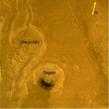 Masursky and Sagan - Craters on the planet Mars