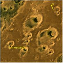 One of the brightest desert regions of Mars called Thymiamata