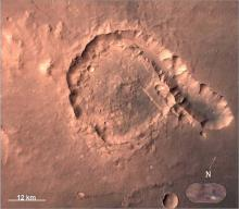 Pital Crater - Picture from Mars Color Camera (MCC) on 23-04-2015
