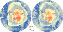 Antarctic as observed by Scatsat-1, Oct 03-04, 2016