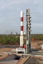 Fully integrated PSLV-C38 with all the 31 Spacecrafts at First Launch Pad