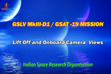 GSLV Mk III D1 / GSAT-19 Tracking and Onboard Camera Video