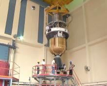 PSLV-C17-Third and Fourth Stage Integration - video