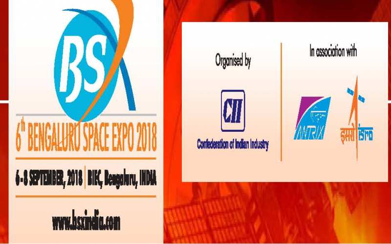 6th Bangalore Space Expo 2018, 6-8 September 2018