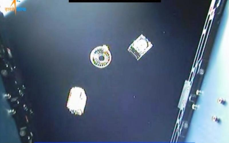 PSLV-C40 Lifoff and Onboard Camera View