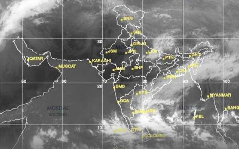 Cloud Cover Over India