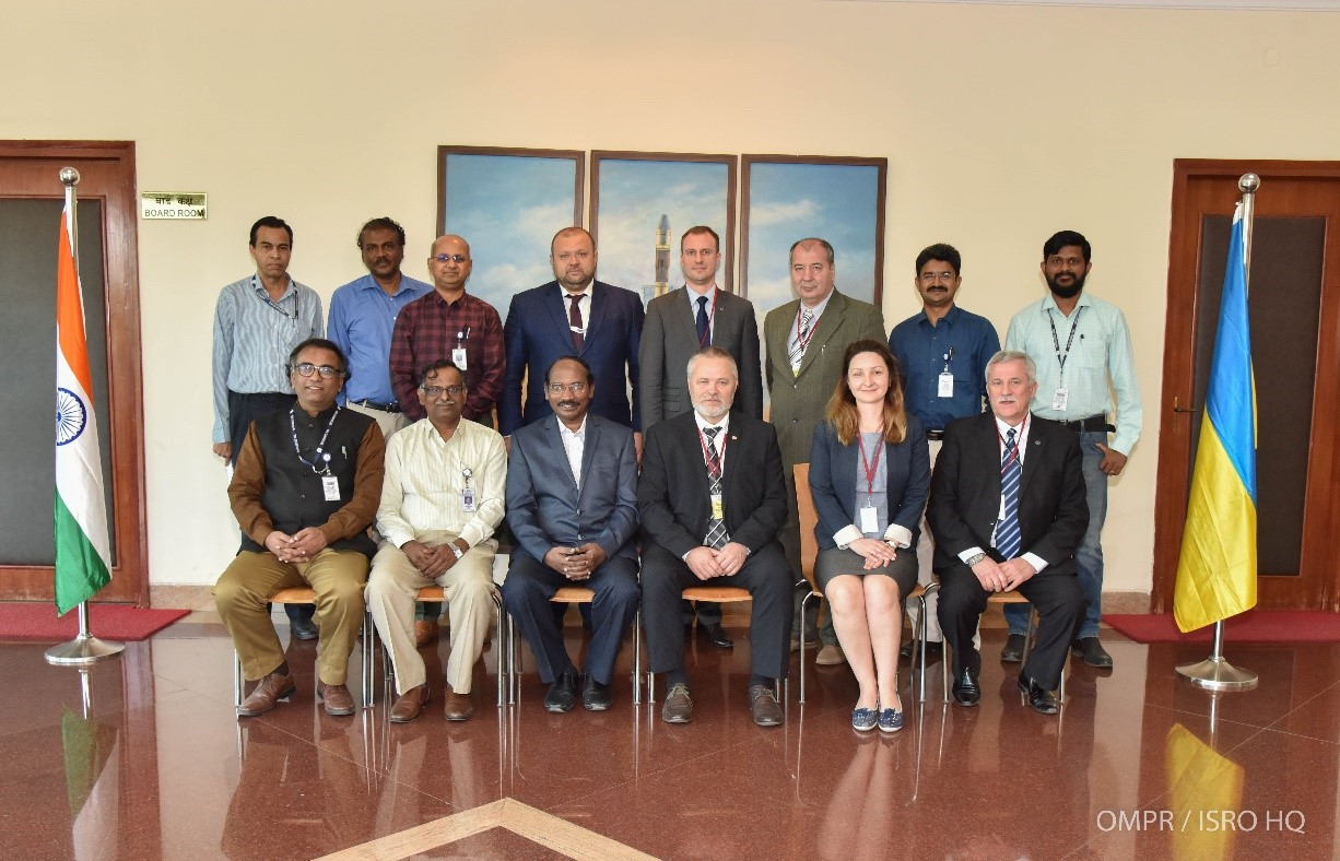Chairman, Ukrainian Space Agency's visit to ISRO HQ