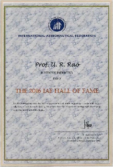 2016 IAF Hall of Fame Citation